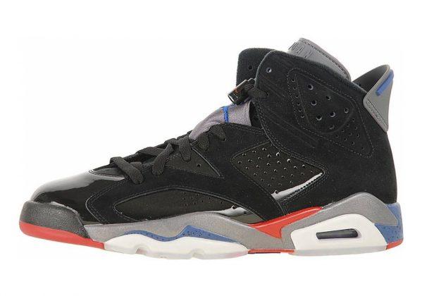 Air Jordan 6 black, varsity red-true blue-light graphite