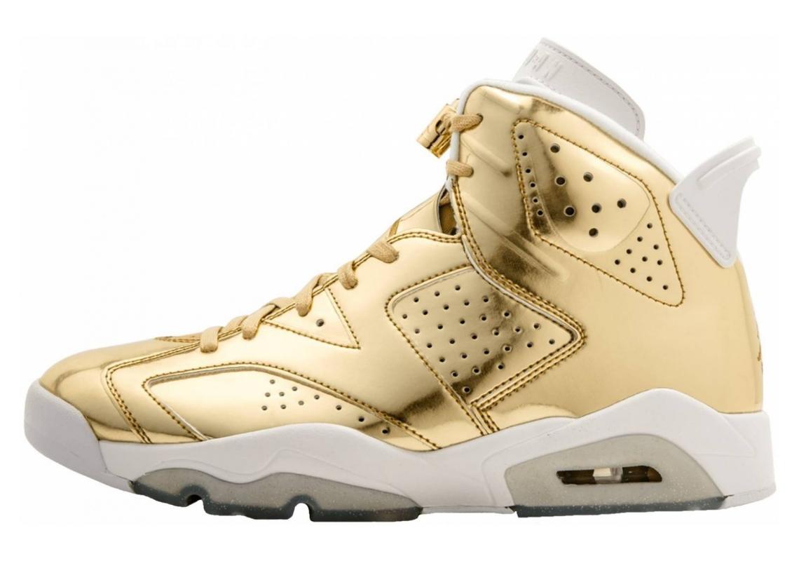Air Jordan 6 metallic gold, white