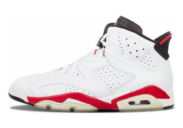 Air Jordan 6 White, Gym Red-pure Platinum