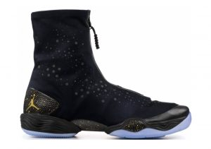 Air Jordan XX8 Black, Metallic Gold-white