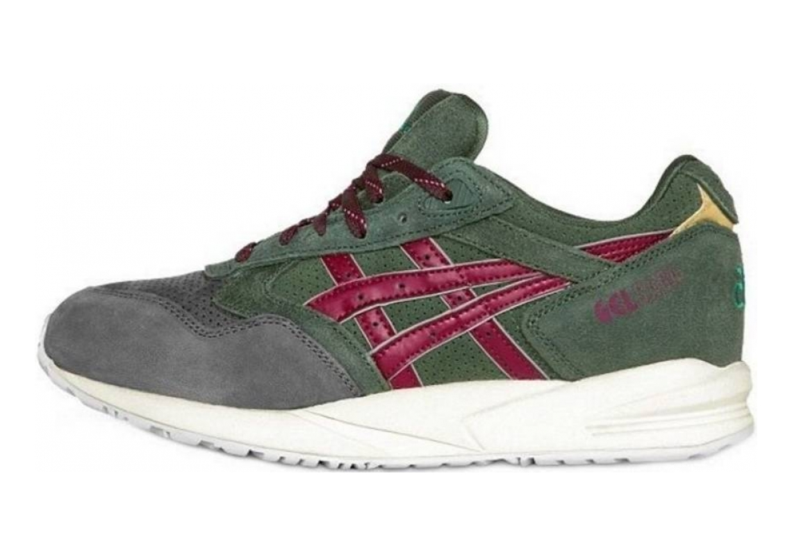 Asics Gel Saga Dark Green - Burgundy