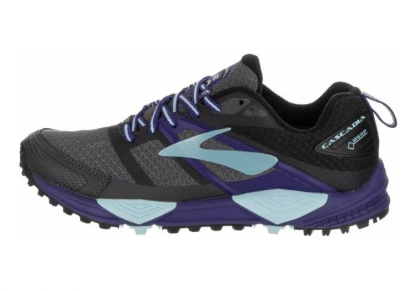 Brooks Cascadia 12 GTX Black/Ebony/Clematis Blue