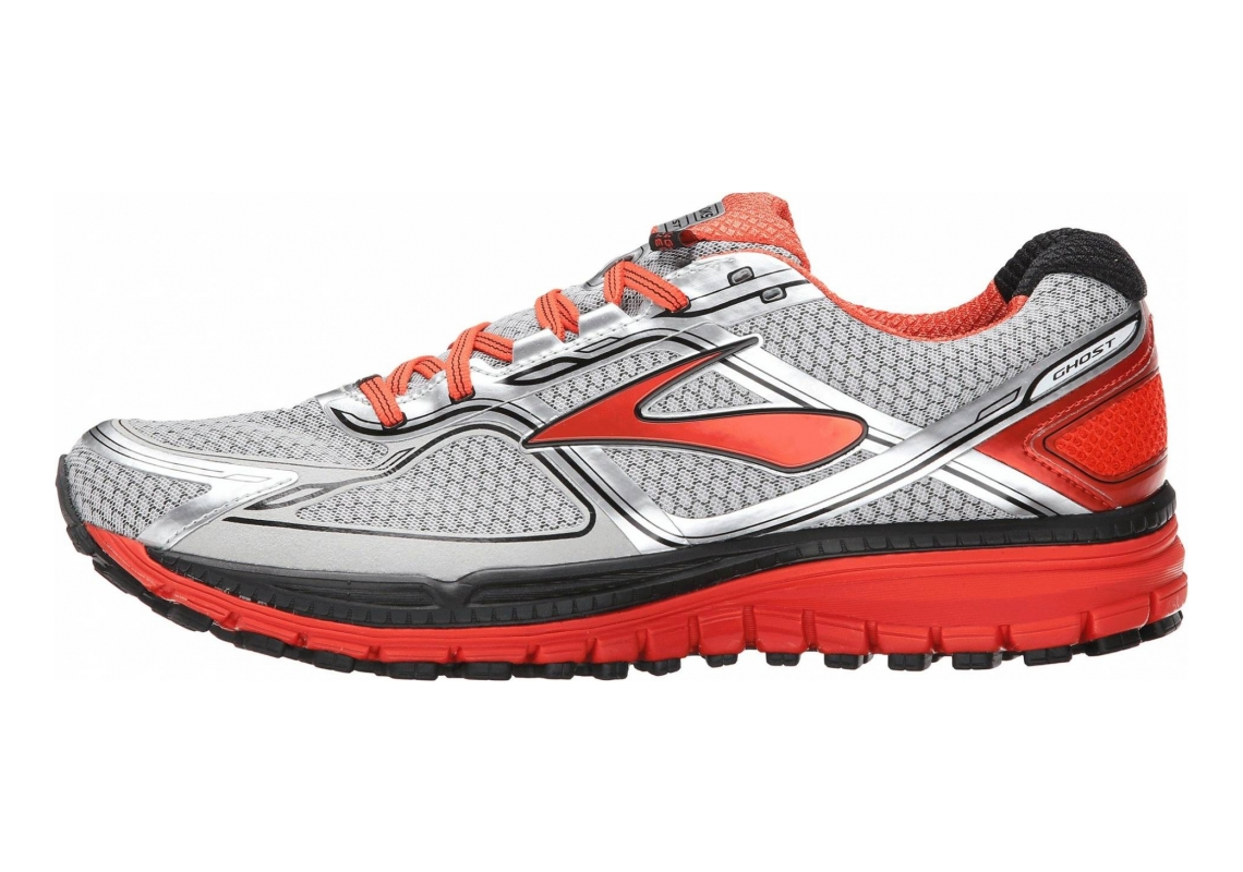 Brooks Ghost 8 GTX Argento (Argent (Silver/Poinciana/Black 084))