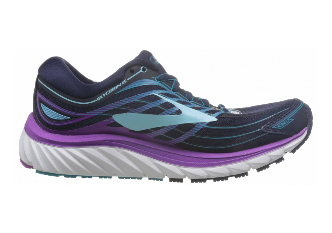 Brooks Glycerin 15 Evening Blue/Purple Cactus Flower/Teal Victory