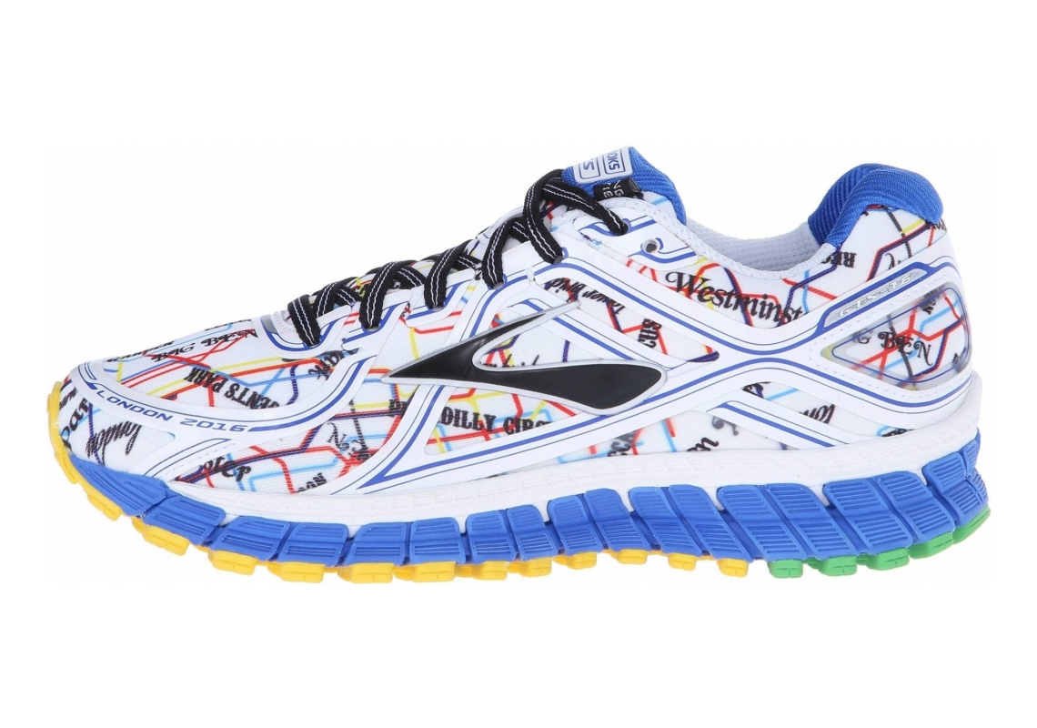 Brooks Adrenaline GTS 16 Electric Blue/High Risk Red/Black/Cyber Yellow