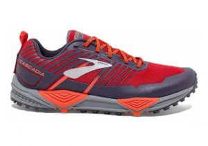 Brooks Cascadia 13 Red / Orange / Grey