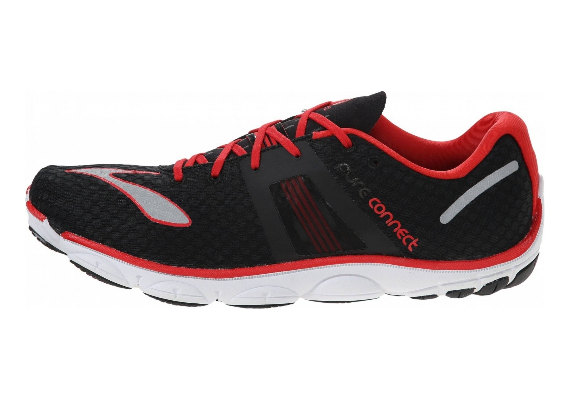 Brooks PureConnect 4 Black/High Risk Red/Silver