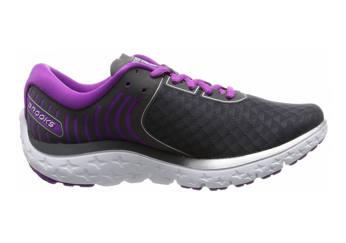 Brooks Pureflow 6 Anthracite/Silver/Purple Cactus Flower