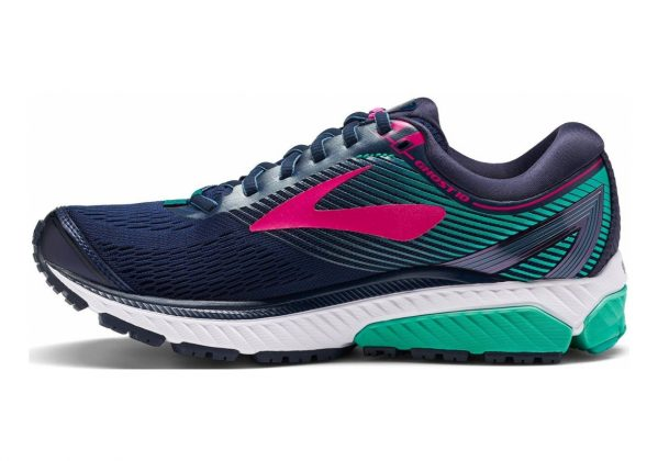 Brooks Ghost 10 Navy/Pink/Teal Green
