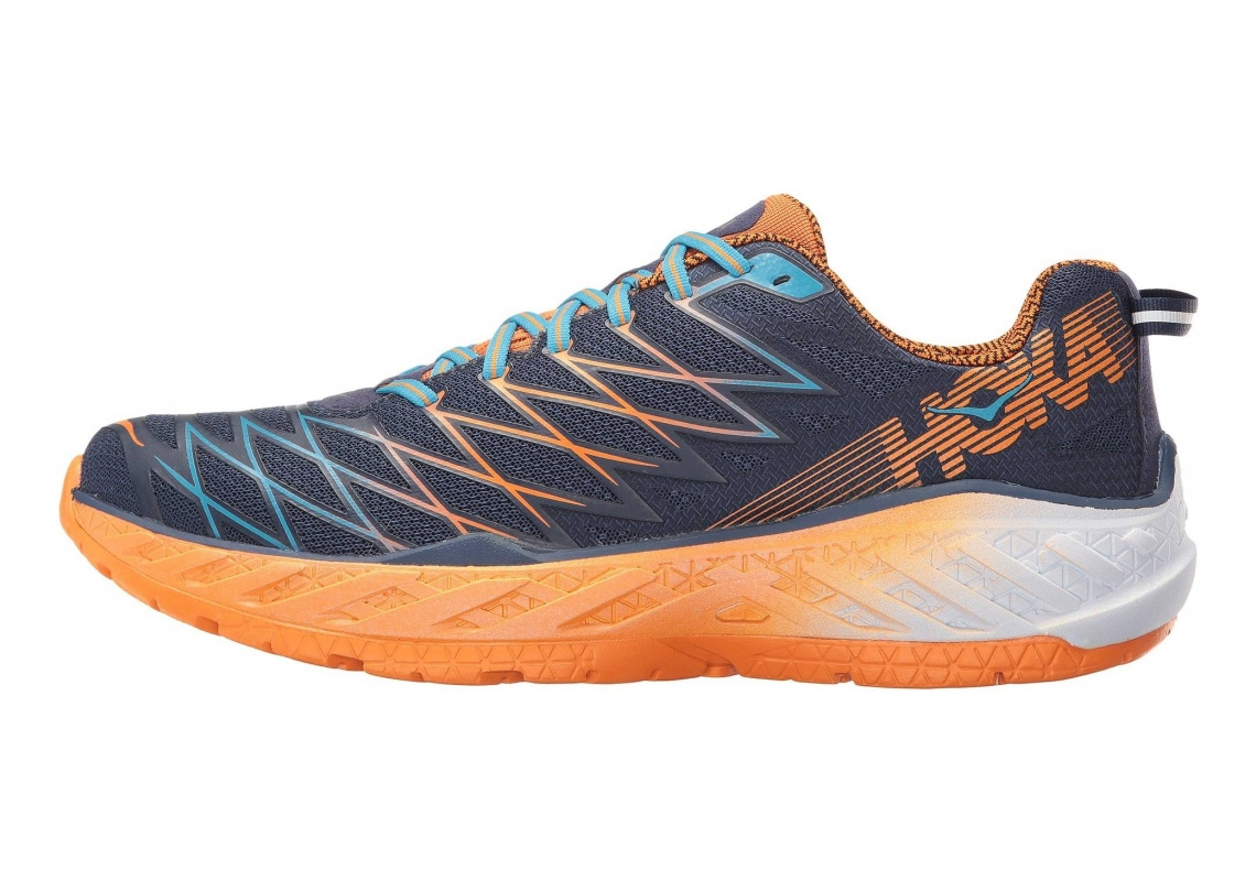 Hoka One One Clayton 2 azul (medieval blue / persimmon orange)