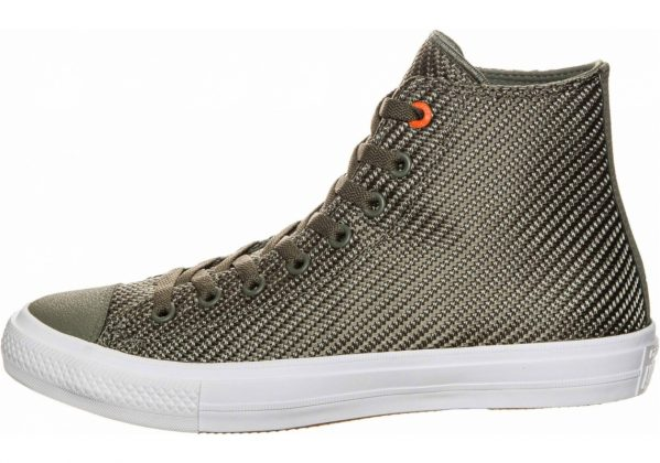 Converse Chuck II High Top oliv / orange / weiß