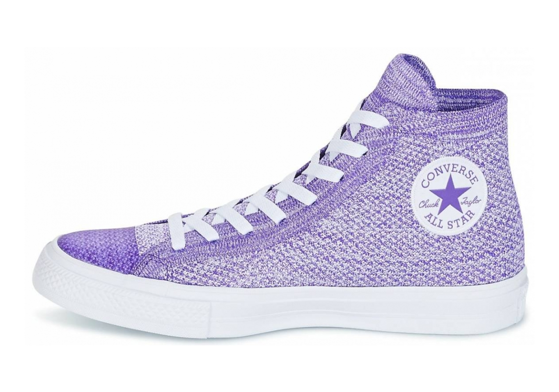 Converse Chuck Taylor All Star x Nike Flyknit High Top Purple