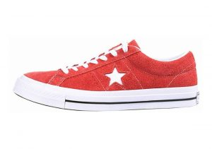 Converse One Star Premium Suede Low Top Red
