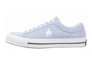 Converse One Star Premium Suede Low Top azul claro