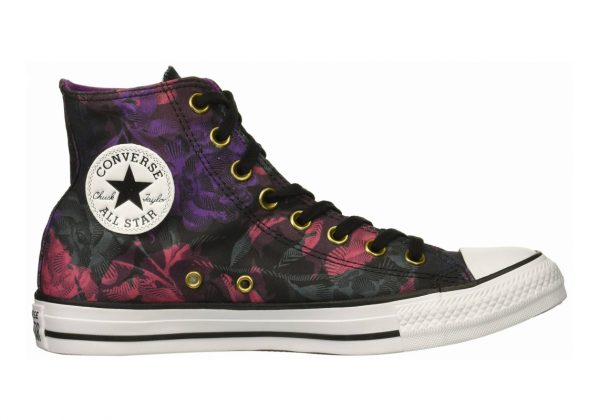 Converse Chuck Taylor All Star Floral Print High Top Black/Pink Pop/White