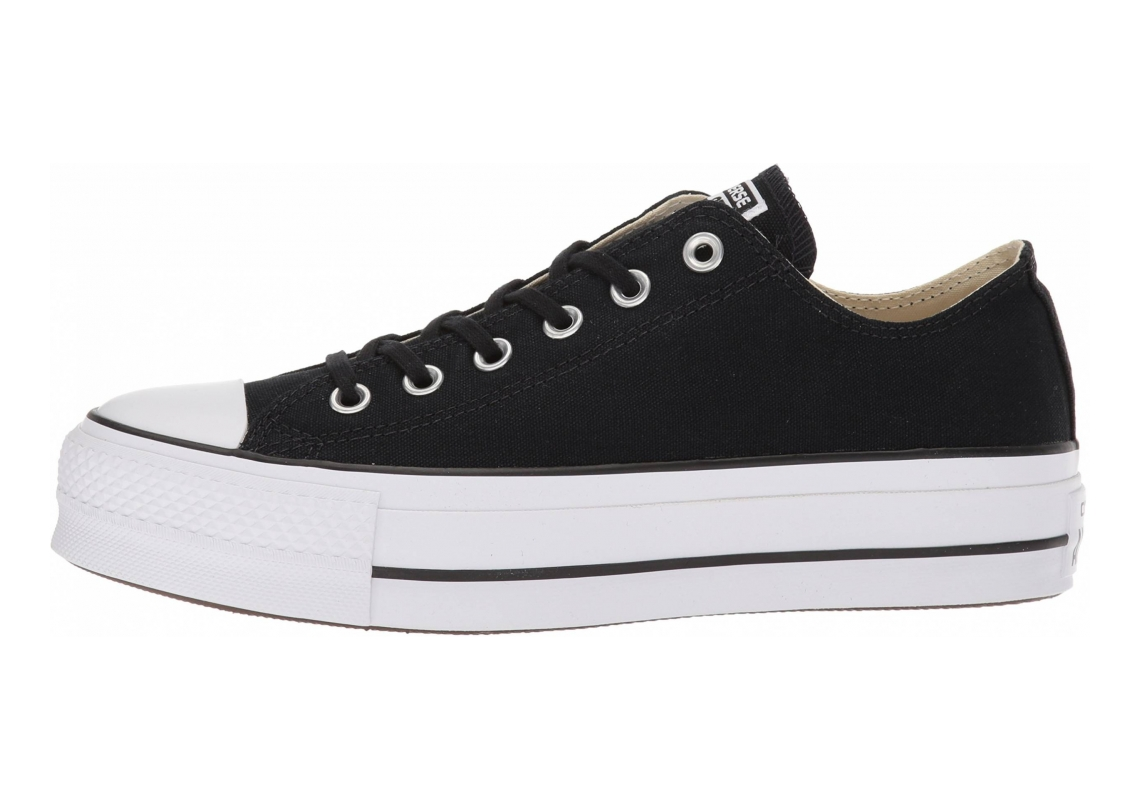 Converse Chuck Taylor All Star Lift Canvas Low Top  Black/White/White