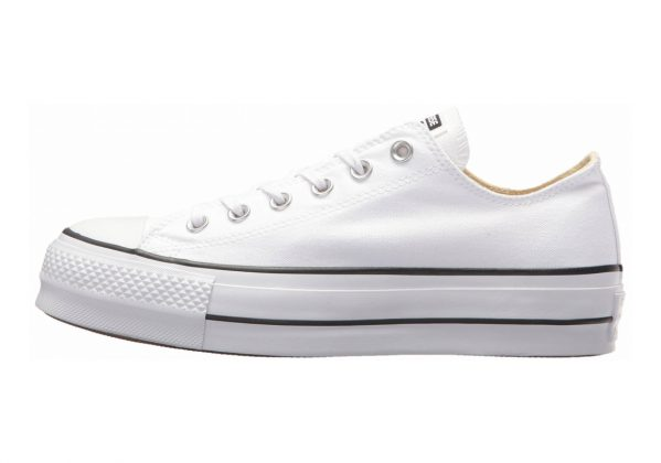 Converse Chuck Taylor All Star Lift Canvas Low Top  White/Black/White