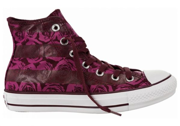 Converse Chuck Taylor All Star Floral Print High Top Purple