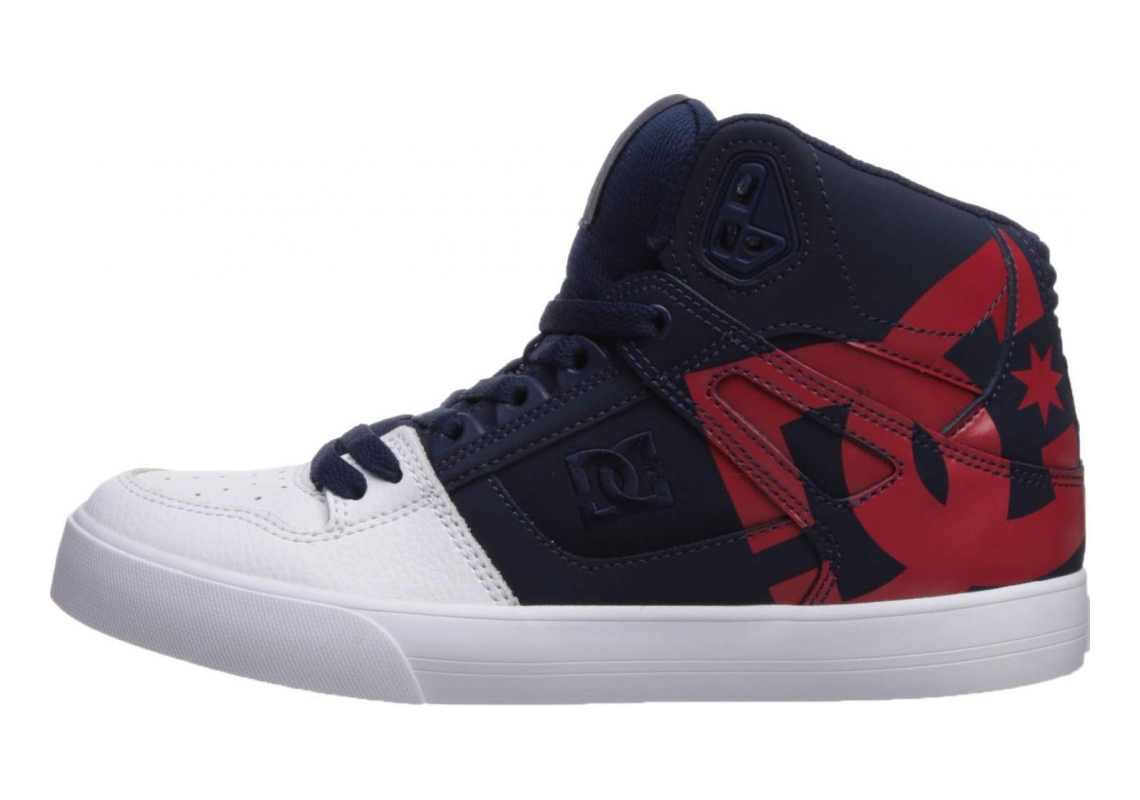 DC Pure High-Top  Navy/Red