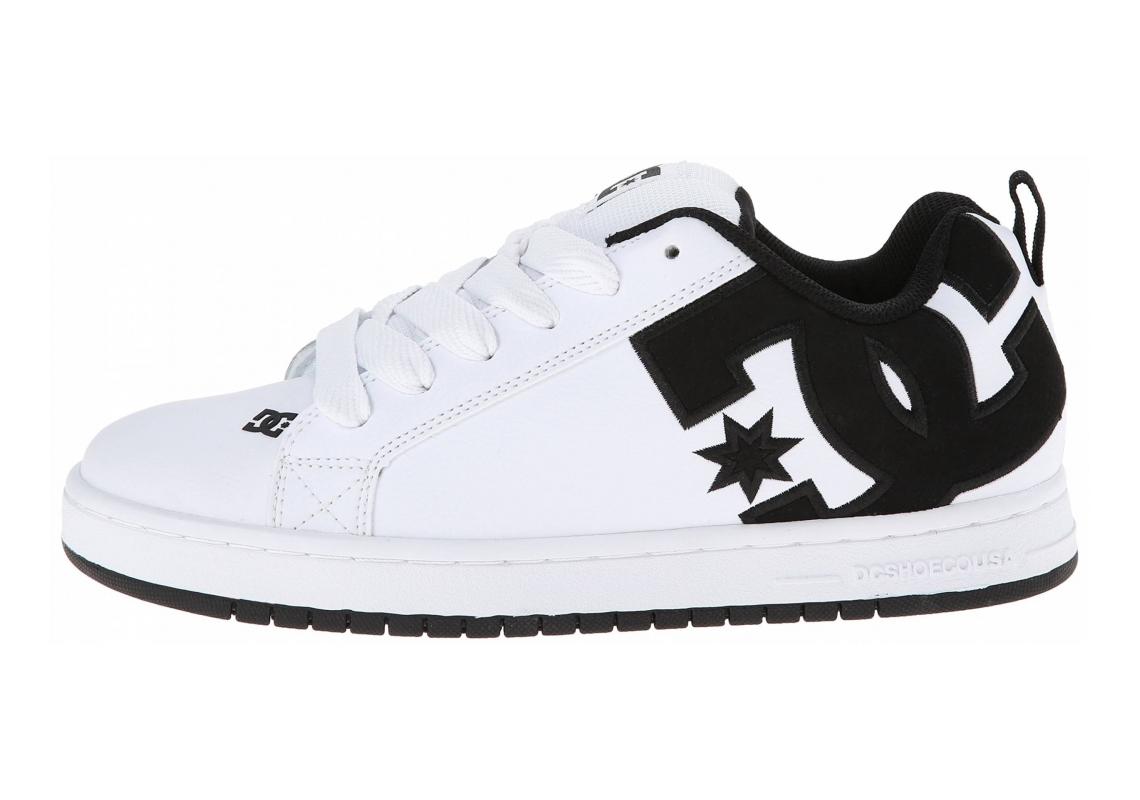 DC Court Graffik SE Bianco (White/White/Black)