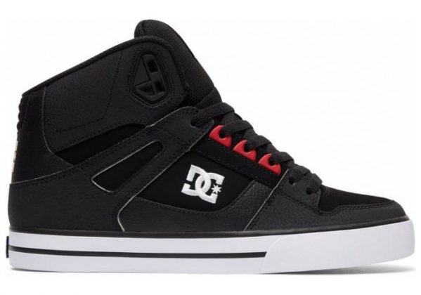 DC Spartan WC High Top Multicolor (Black/Red/Black - Combo)