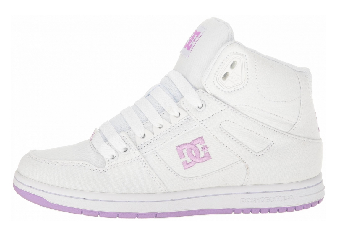DC Rebound High TX White/Lilac