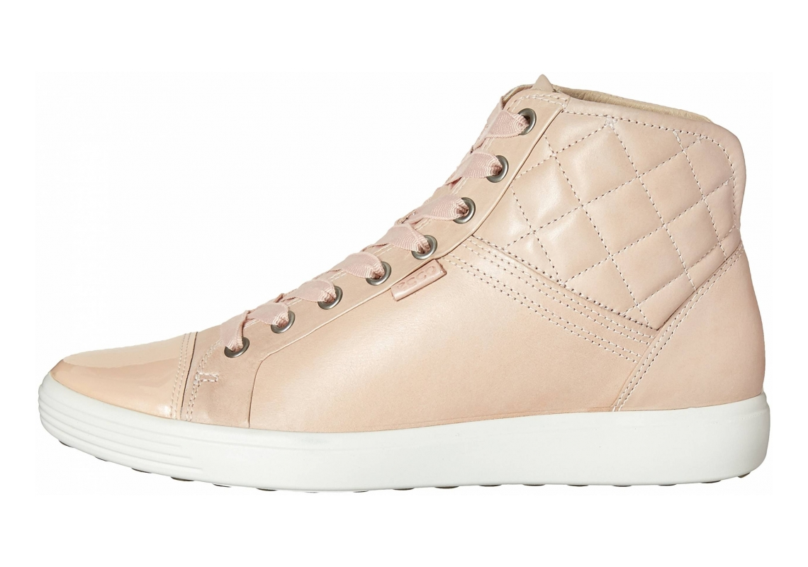Ecco Soft 7 High Top Beige