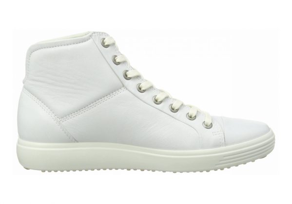 Ecco Soft 7 High Top White