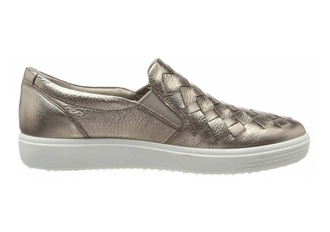 Ecco Soft 7 Woven Silver