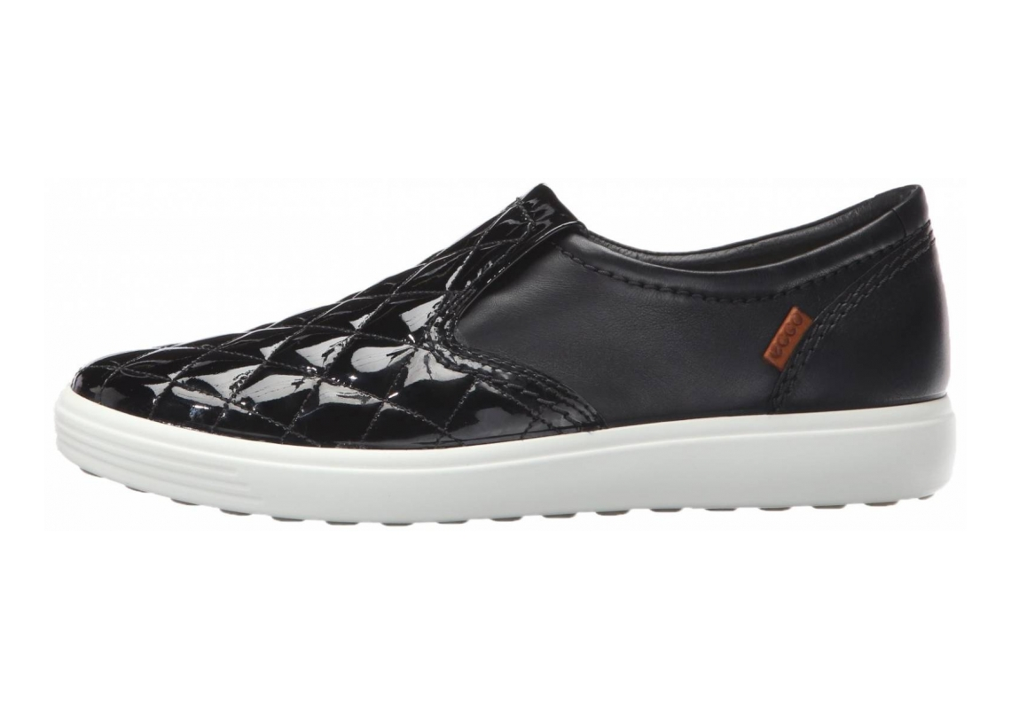 Ecco Soft 7 Quilted Slip On Negro (Black/Black 53960)
