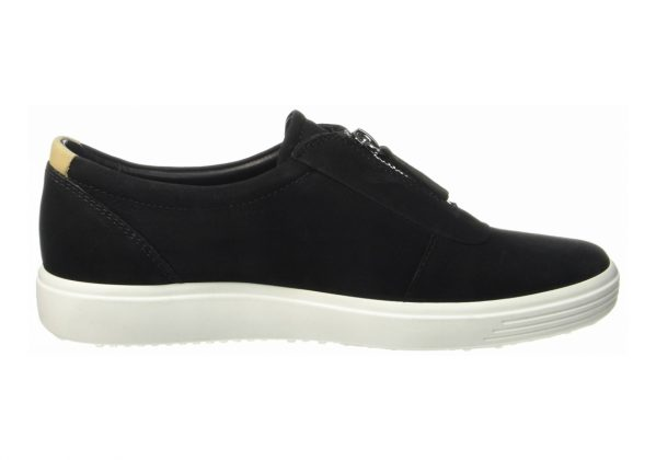 Ecco Soft 7 Zip Black Nubuck