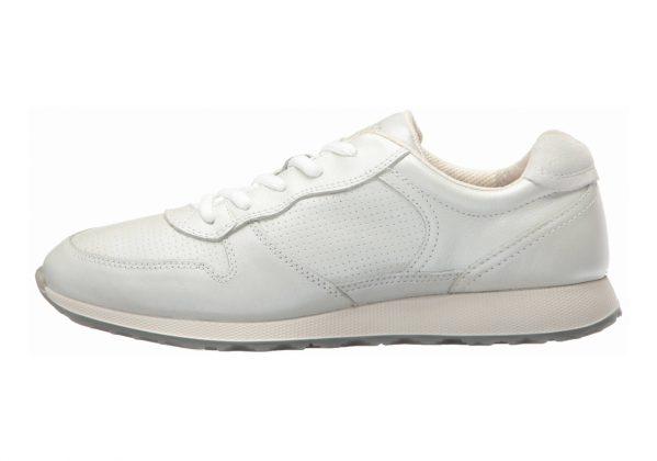 Ecco Sneak Tie White/Shadow White