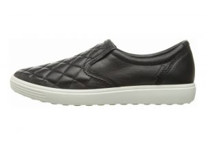 Ecco Soft 7 Quilted Slip On Black