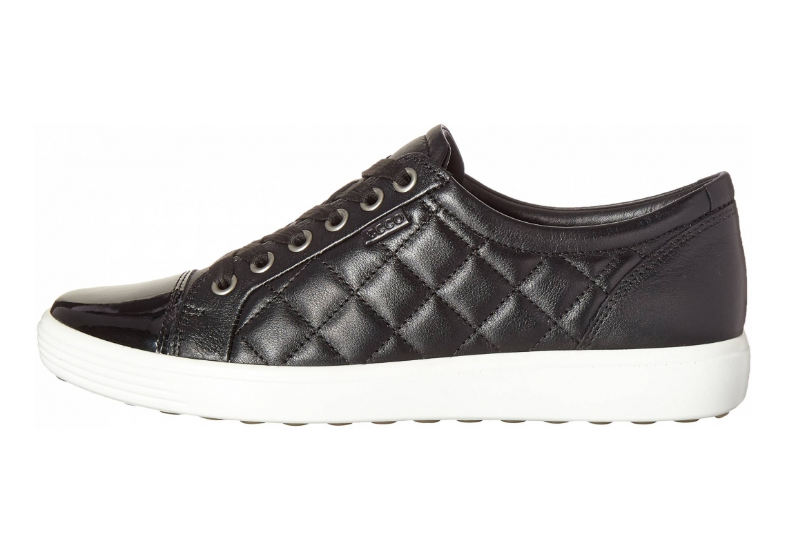 Ecco Soft 7 Quilted Tie Black/Black