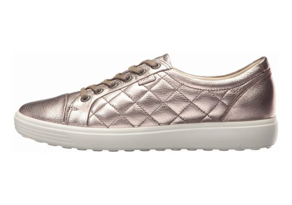 Ecco Soft 7 Quilted Tie Silver