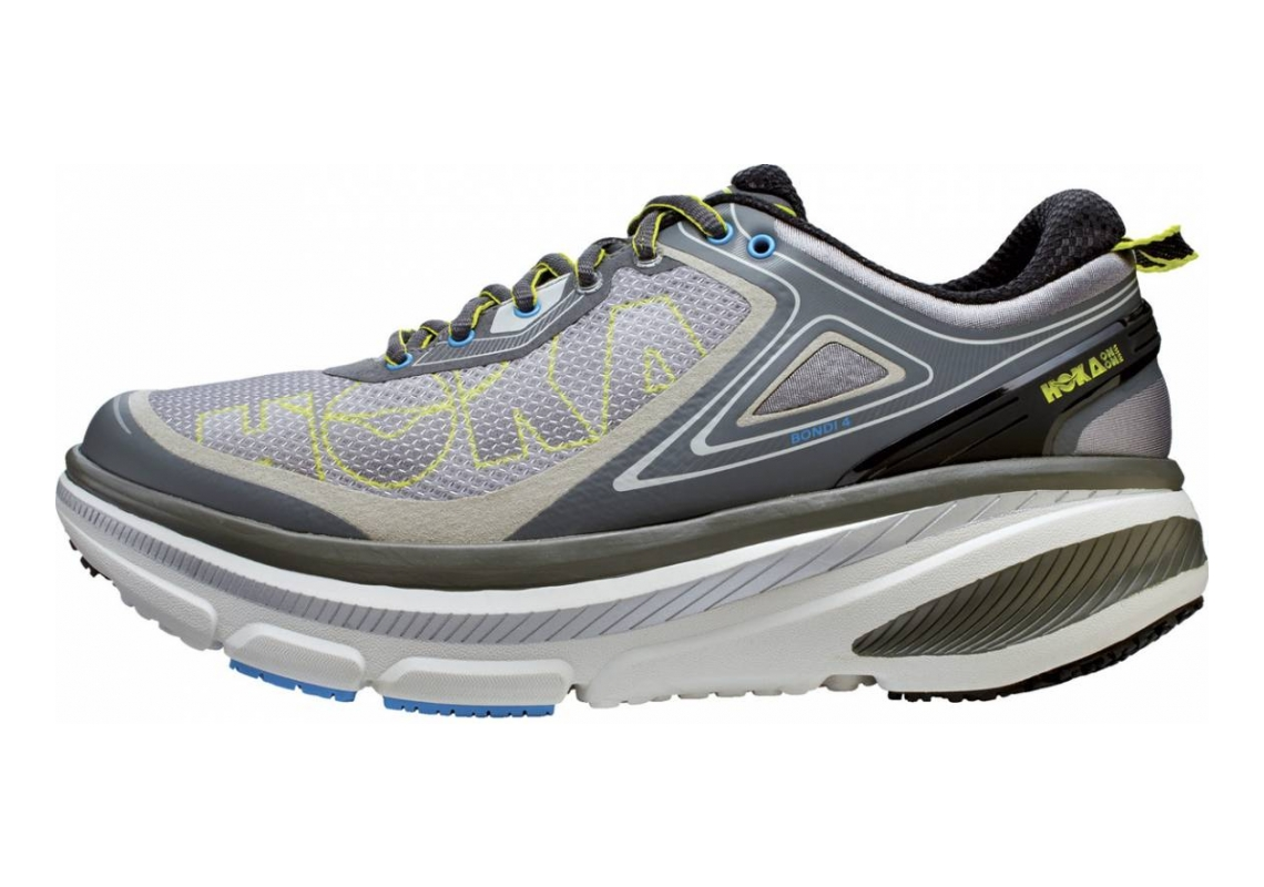 Hoka One One Bondi 4 Grey / Citrus / Cyan