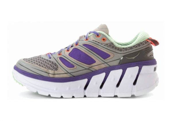 Hoka One One Conquest 2 Grey/Blue/Neon Coral