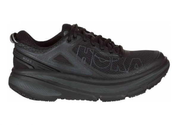 Hoka One One Bondi 4 Black Leather