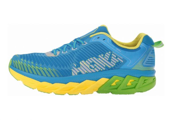 Hoka One One Arahi Blue Aster/Blazing Yellow