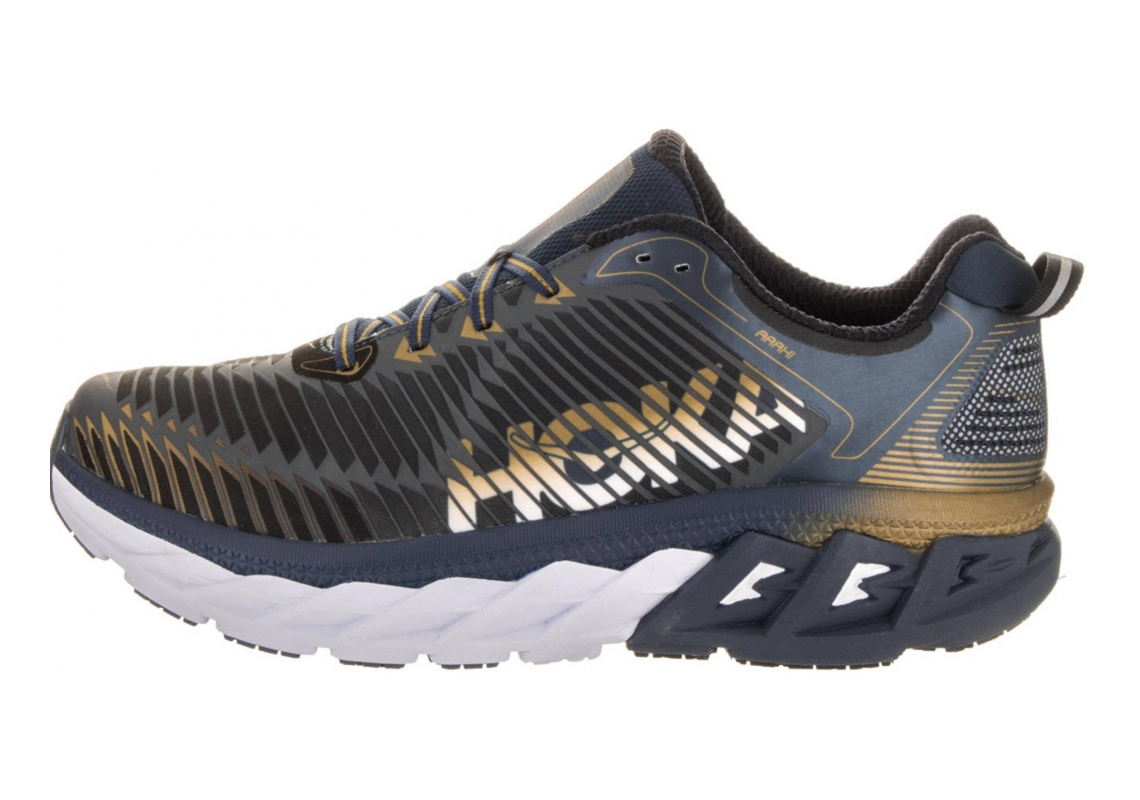 Hoka One One Arahi Midnight Navy/Metallic Gold