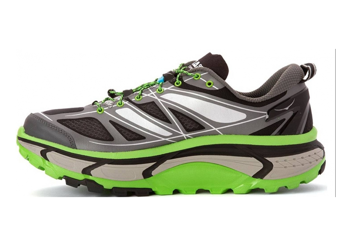 Hoka One One Mafate Speed Grey / Green Flash