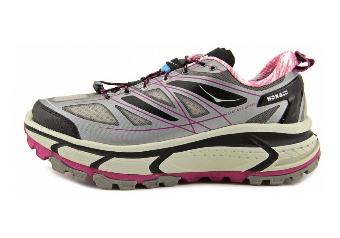 Hoka One One Mafate Speed Grey/Black/Fuschia