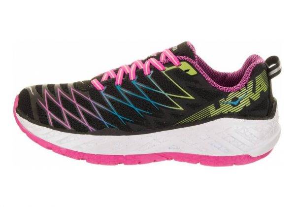 Hoka One One Clayton 2 Black/Fuchsia/Green Glow