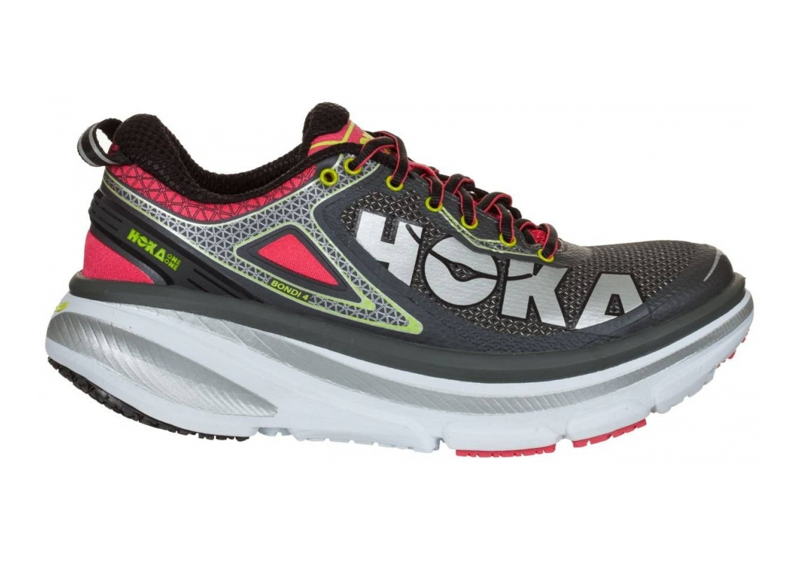 Hoka One One Bondi 4 Grey / Teaberry