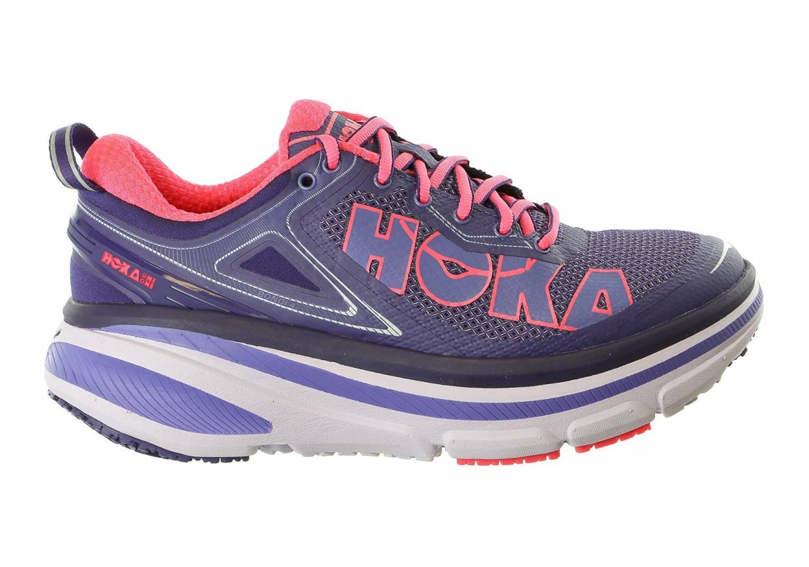 Hoka One One Bondi 4 Pink / Purple / White