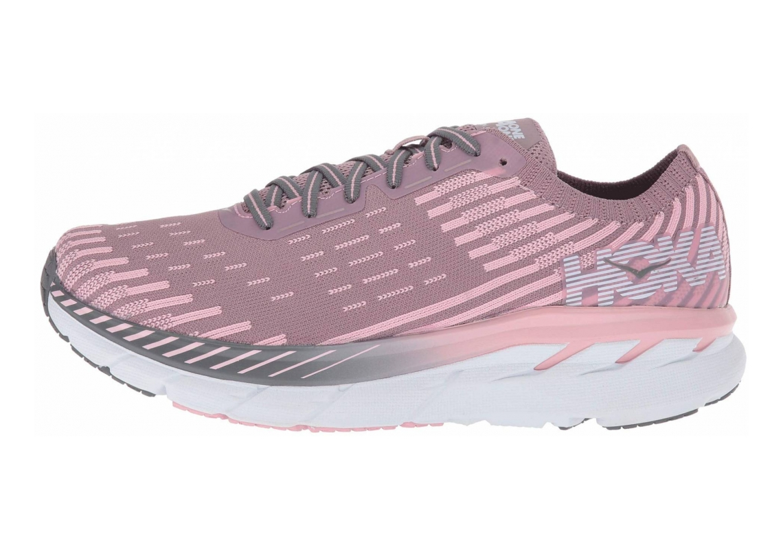 Hoka One One Clifton 5 Knit Cameo/Pink Toadstool