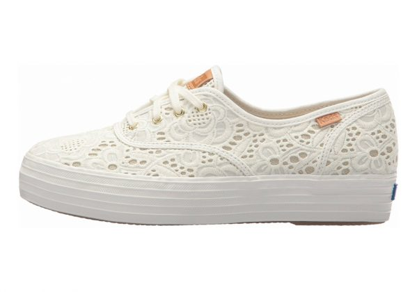 Keds Triple Embroidered Crochet Beige