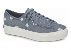Keds Triple Kick Hibiscus Blue Chambray