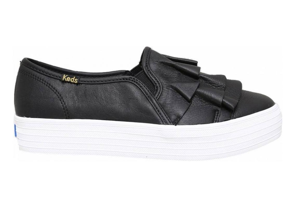 Keds Triple Ruffle Leather Black