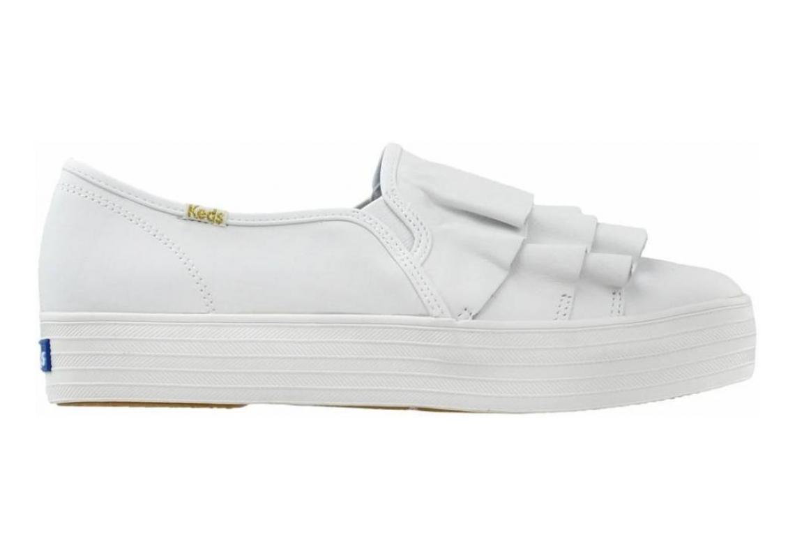 Keds Triple Ruffle Leather White